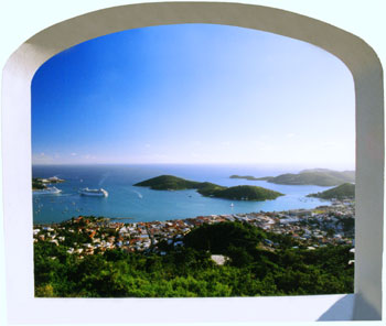 Harbor View From Villa St. Thomas Virgin Islands